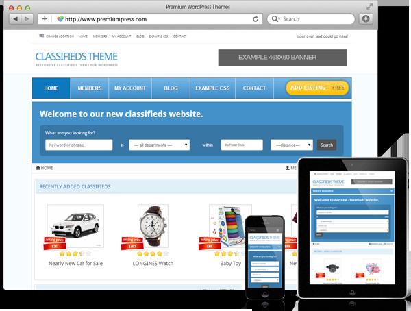 Premiumpress CLASSIFIEDS Theme