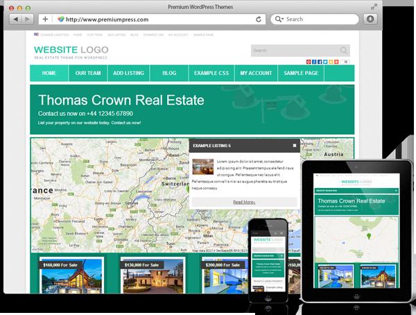Premiumpress Real Estate tema